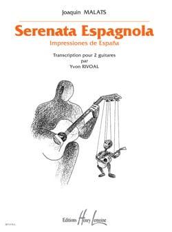 Serenata Espagnola Joaquin Malats Partition Guitare - laflutedepan