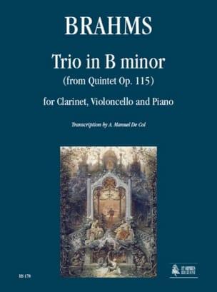 BRAHMS - Trio en Si Mineur d'après le Quintette Op. 115 - Partition - di-arezzo.fr