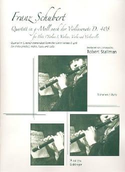 Franz Schubert - Quatuor En Sol Min. D. 408 - Score - Partition - di-arezzo.fr
