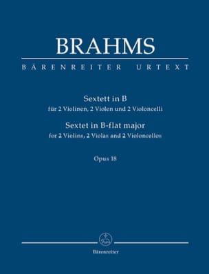 BRAHMS - Bb String Sextor Opus 18 - Partitura - di-arezzo.it
