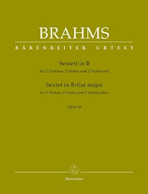 BRAHMS - String Sextet in Bb Maj. Opus 18 - Sheet Music - di-arezzo.co.uk