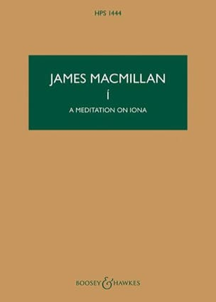 I - A Meditation On Iona James MacMillan Partition laflutedepan