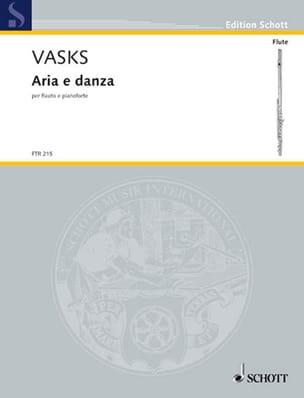 Aria E Danza 1972/2010 Peteris Vasks Partition laflutedepan