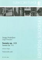 Serge Prokofiev - Sonata In C Major Op.115 - Sheet Music - di-arezzo.co.uk
