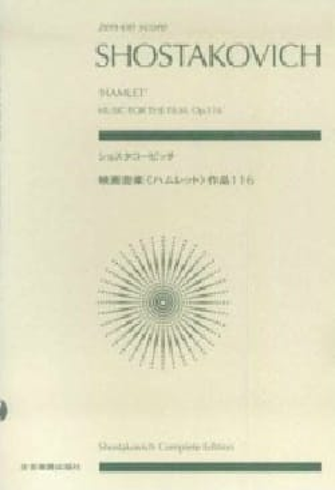CHOSTAKOVITCH - Hamlet Opus 116 - Partition - di-arezzo.fr