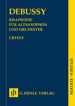 Claude Debussy - Rhapsodie pour saxophone alto et orchestre - Partition - di-arezzo.fr