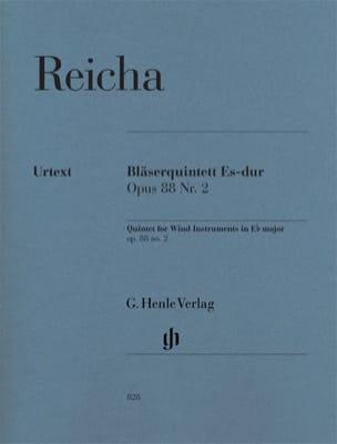 Quintette à Vent op. 88 n° 2 en Mib Maj. REICHA Partition laflutedepan