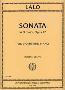Edouard Lalo - Sonata In D Maj. Opus 12 - Sheet Music - di-arezzo.com