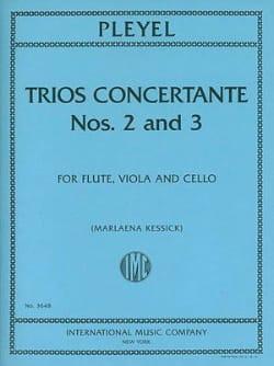 Ignaz Pleyel - Trios Concertants N° 2 En Ré Maj. et N° 3 En Fa Maj. - Partition - di-arezzo.fr