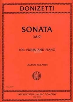 Gaetano Donizetti - Sonate 1819 - Partition - di-arezzo.fr