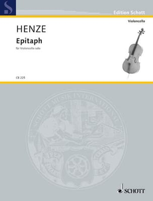 Hans Werner Henze - Epitaph 1979 - Sheet Music - di-arezzo.com