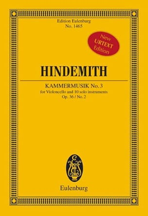 Paul Hindemith - Kammermusik N°3 Op.36 N°2 - Partition - di-arezzo.fr