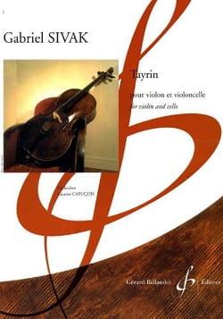Gabriel Sivak - Tayrin - Partition - di-arezzo.fr