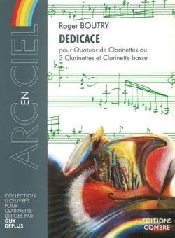Dédicace - Roger Boutry - Partition - Clarinette - laflutedepan.com
