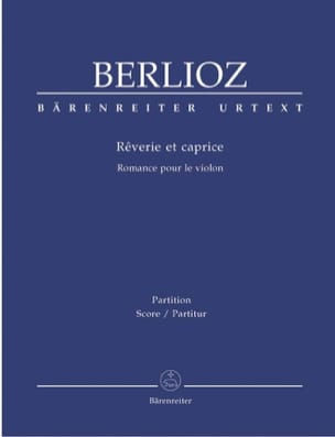 Hector Berlioz - Rêverie et Caprice - Partition - di-arezzo.fr
