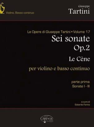 Giuseppe Tartini - 6 Sonates, Op. 2 La Cène Volume 1 (Sonate 1-3) - Partition - di-arezzo.fr