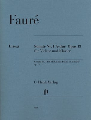 Gabriel Fauré - Violin Sonata No. 1 in A major op. 13 - Sheet Music - di-arezzo.com