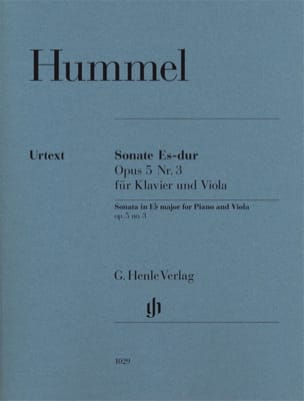 HUMMEL - Viola Sonata in E flat major op. 5 n ° 3 - Sheet Music - di-arezzo.com