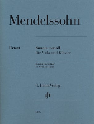 MENDELSSOHN - Viola sonata in C minor - Sheet Music - di-arezzo.com