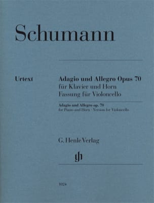 SCHUMANN - Adagio and Allegro op. 70, version for cello and piano - Sheet Music - di-arezzo.co.uk