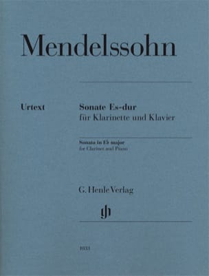 MENDELSSOHN - Clarinet Sonata in E flat major - Sheet Music - di-arezzo.co.uk