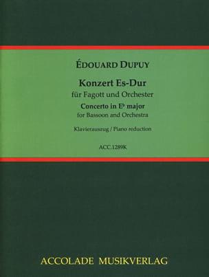 Edouard Dupuy - Concerto en Mib Majeur - Partition - di-arezzo.fr