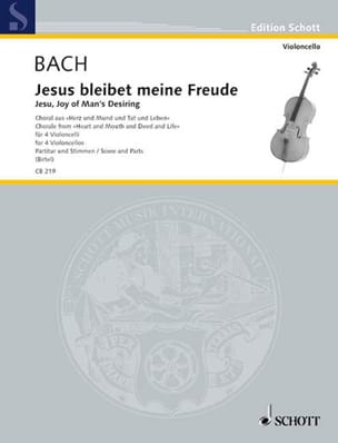 BACH - Jesus Bleibet Meine Freude - Sheet Music - di-arezzo.co.uk