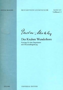 Des Knaben Wunderhorn - Gustav Mahler - Partition - laflutedepan.com