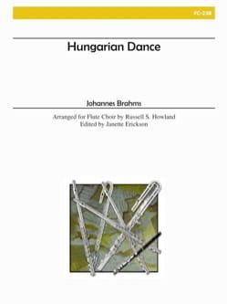 Hungarian Dance BRAHMS Partition Flûte traversière - laflutedepan