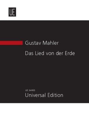 Das Lied Von Der Erde 1908 - MAHLER - Partition - laflutedepan.com