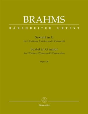 BRAHMS - Sextet Opus 36 in G Major - Sheet Music - di-arezzo.com
