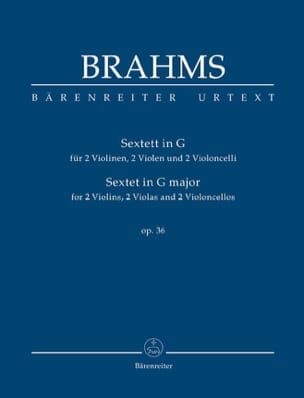 BRAHMS - Sextet Op. 36 in G Major - Sheet Music - di-arezzo.co.uk
