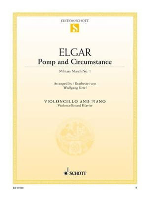 ELGAR - Pomp And Circumstance - Cello - Partition - di-arezzo.com