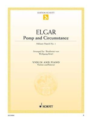 Pomp And Circumstance - Violon - Edward Elgar - laflutedepan.com