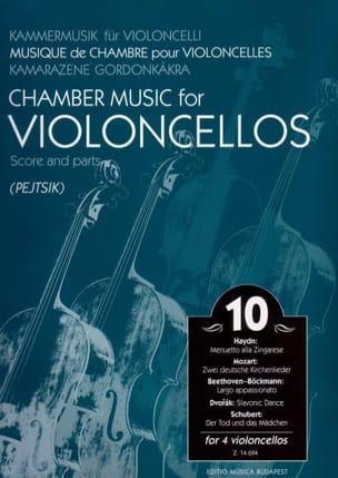 Arpad Pejtsik - Chamber Music For Violoncellos - Volume 10 - Score + Parts - Partition - di-arezzo.fr