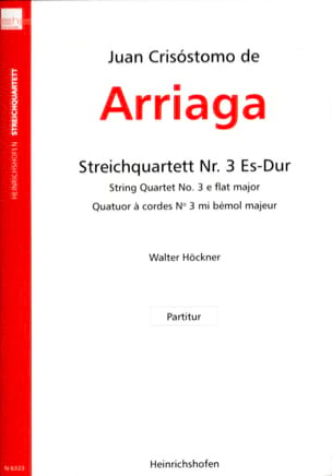 Juan Crisostomo de Arriaga - String Quartet N ° 3 in Eb Shift. - Score - Sheet Music - di-arezzo.com