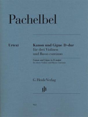 Johann Pachelbel - Canon et Gigue en Ré Majeur - Partition - di-arezzo.fr