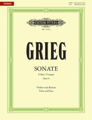 Sonate en Fa Majeur Opus 8 GRIEG Partition Violon - laflutedepan