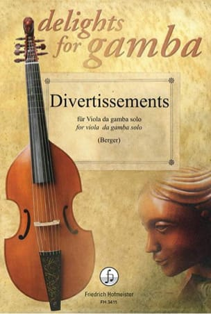 Divertissements Pour Viole de Gambe Solo Partition laflutedepan