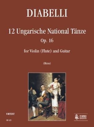 12 Danses Nationales Hongroises Op.16 Antonio Diabelli laflutedepan