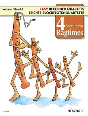 4 Ragtimes For Recorder Vol.8 Scott Joplin Partition laflutedepan