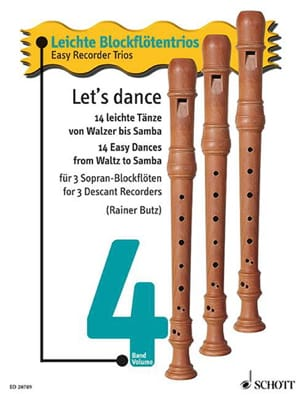 - Let's Dance Vol.4 - Easy Recorder Trio - Partition - di-arezzo.fr