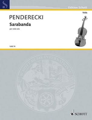 Krzysztof Penderecki - Sarabanda - Partition - di-arezzo.fr