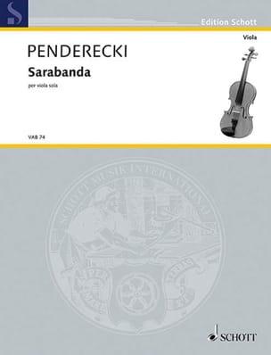 Krzysztof Penderecki - Sarabanda - Sheet Music - di-arezzo.com
