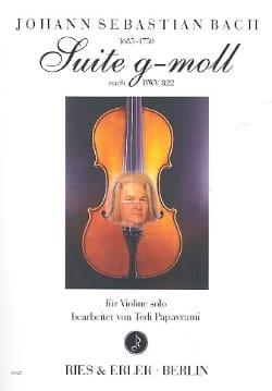 BACH - Suite en Sol Min. BWV 822 - Partition - di-arezzo.fr