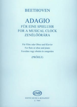 BEETHOVEN - Adagio For A Musical Clock - Partition - di-arezzo.fr