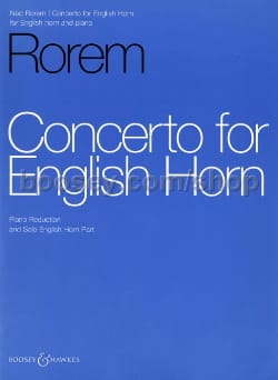 Ned Rorem - Concerto For English Horn - Sheet Music - di-arezzo.com