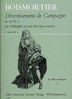 Divertissement de Campagne Op 49 N° 2 Für Altblockflöte Mit Oder Ohne Bc - laflutedepan.com