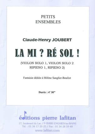 Claude-Henry Joubert - Mi?レソル! - 楽譜 - di-arezzo.jp