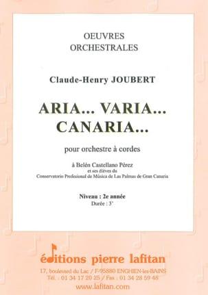 Aria - Varia - Canaria - Claude-Henry Joubert - laflutedepan.com